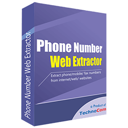 Phone Number Web Extractor