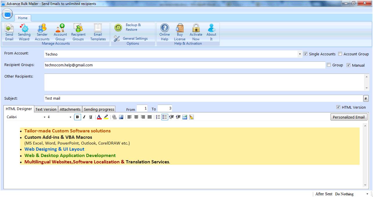Windows 7 Advance Bulk Mailer 2.7.3.44 full