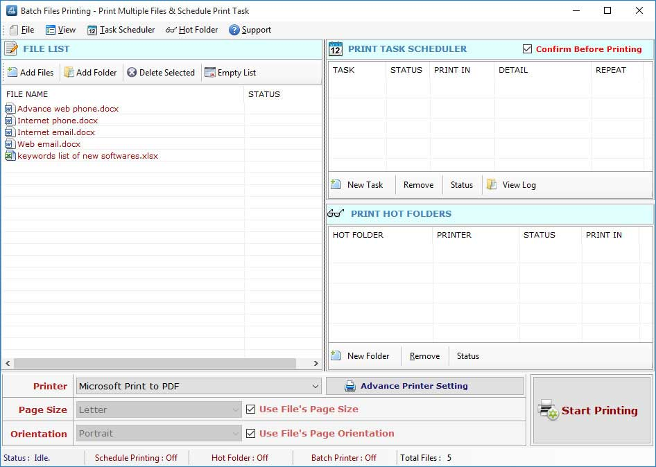 Batch Files Printing full screenshot