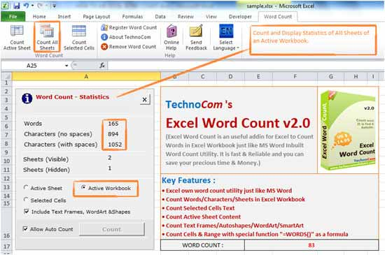 Excel Word Count
