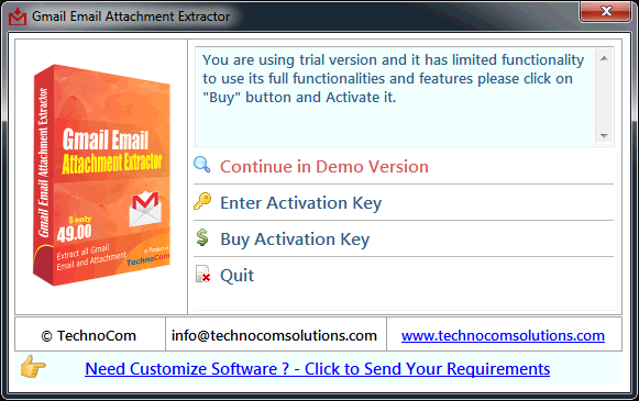 Gmail Email Attachment Extractor