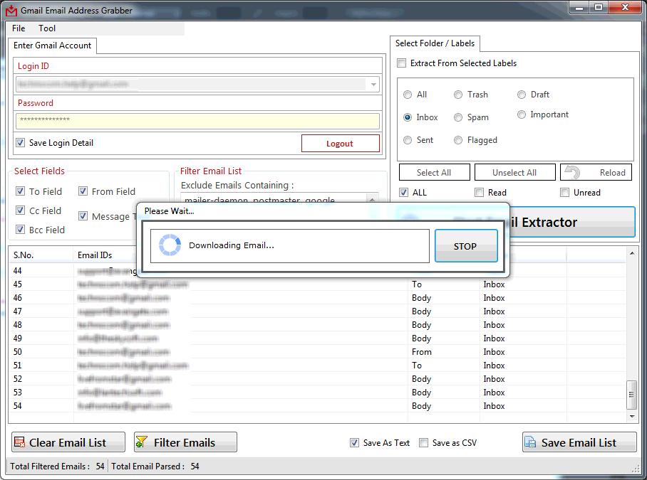 Windows 7 Gmail Email Address Grabber 3.7.2.34 full