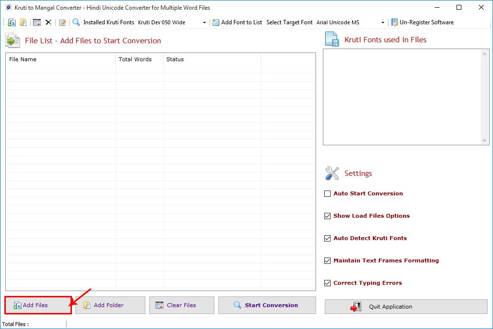 Kruti to Mangal Converter screenshot